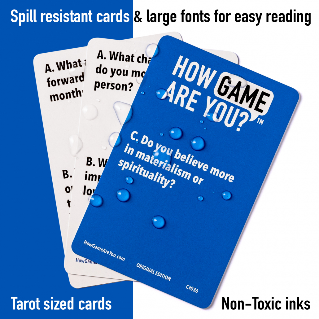 Spillproof cards big font card family fun Vertellis